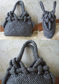Octopussy handbag, knotting pattern diagram