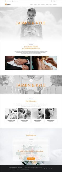 Averon is clean and modern design responsive multipurpose bootstrap template for stunning #wedding #invitation website with 21+ niche homepage layouts to live preview & download  click on the image.
