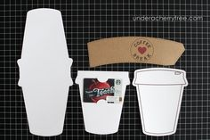 Under A Cherry Tree: Jin's Color-Your-Own {Starbucks} gift card holder