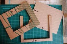 Cornice fai da te con il cartone riciclato, il tutorial   Tutorial 8   FOTO