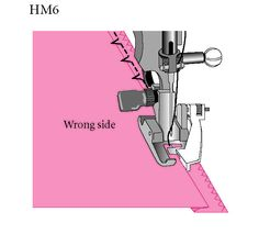 Sew Beautiful Blog-illustration of blindhemming on the machine