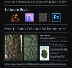 Hello Polycounters! As promised, here is my sculpted bark texture tutorial. I hope this helps anyone who has had some trouble sculpting tileable bark.