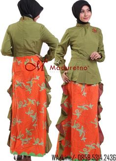 Gamis pesta batik musoimah made by order