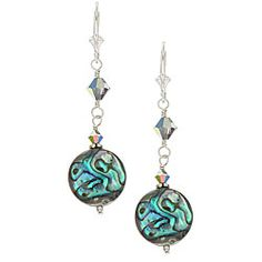 Charming Life Sterling Silver Paua Shell Round Earrings | Overstock.com Shopping - Top Rated Charming Life Pearl Earrings