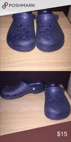 Navy crocs - size 8 - brand new! Navy crocs - size 8 - brand new! Worn maybe one time... Great condition! *No trades* CROCS Shoes Mules & Clogs