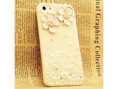 3D Little Flowers + Lace Cute iPhone 5 Case