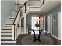 Wall color is Cloudy Sky by Benjamin Moore {Remodelaholic}