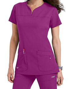8ce8c7c2b DISTINCTIVE AND DIFFERENTMake your job easier with the Grey s Anatomy  Signature notch neck 2-Pocket