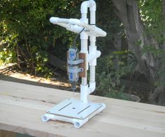 Instructions for making a PVC Dremel Drill Press.