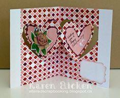 Karen Aicken using the Pop it Ups Heart Pivot card die set by Karen Burniston for Elizabeth Craft Designs. - Heart Pivot Valentine