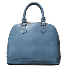 Uptown Dome Satchel in Washed Denim by Elise Hope