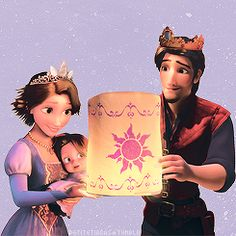 OMG rapunzel & flynn w/their daughter