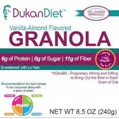 Enjoy the delicious flavor of Vanilla Almond Granola made with wholesome ingredients, including oat bran, flaxseed and the all-natural, no calorie sweetener lo han (monk fruit)*.