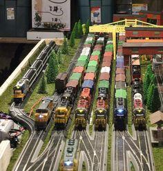 Railyard #modeltraintable