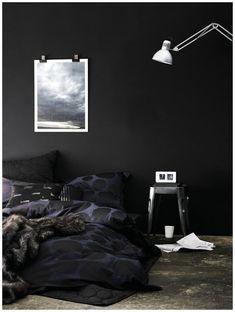 Dark walls.