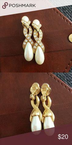 3adc1b98a9956 Vintage faux pearl earrings My Posh Picks t Pearl