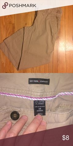 A soft comfy pair of khakis These khakis still have lots of life left in them. New York & Company Pants Boot Cut & Flare