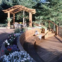 Great outdoor deck for entertaining without a pool.