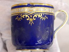 A china cup from the first-class section of the Titanic
