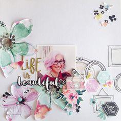 Layout Beautifuls By Tonyi (Cromatismes) Love Scrapbook, Scrapbook Page Layouts, Scrapbook Pages, Scrapbooking Ideas, Wedding Scrapbook, Digital Scrapbooking, Scrapbook Embellishments, Photo Projects, Card Sketches