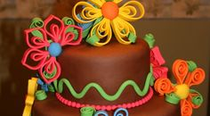 This week, I made a cake for Jordan, who is graduating from high school.  She told me she liked the bright colors and the whimsical flowers ...