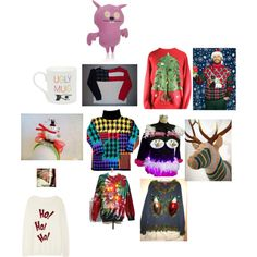 """""""ugly sweters"""" by laverruga on Polyvore"""