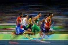 El atleta español Orlando Ortega, en la prueba de 110 metros vallas