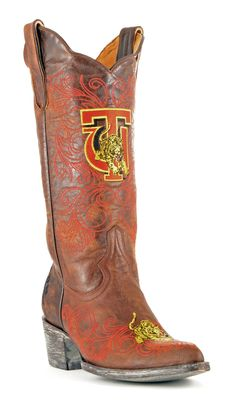 Ladies The Tuskegee University Brass Leather Boots More