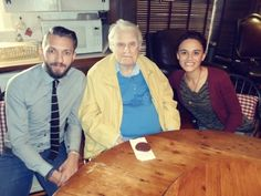 My pastor & his wife meeting Billy Graham