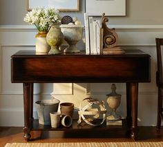 items for entryway table......of course it's all from pottery barm (way over priced) but it gives me inspiration