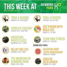 Some things to look forward to this weekend at #HemmingPark if you're out and about!! #loveyourlocalrealtor #community #getinvolved #havefun #sharethenews #realestateexpert #selljacksonville Contact me and visit SusanDunham.net