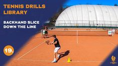 Top tennis drills: Backhand slice down the line Tennis Videos, Drills, Line, Basketball Court, Top, Fishing Line, Drill, Crop Shirt, Shirts