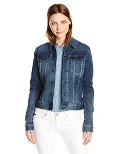 """The Robyn is a traditional fitting denim jacket. Great for every day wear.       Famous Words of Inspiration...""""A little simplification would be the first step toward rational living, I think.""""   Eleanor Roosevelt — Click here for more from...  More details at https://jackets-lovers.bestselleroutlets.com/ladies-coats-jackets-vests/denim-jackets/product-review-for-ag-adriano-goldschmied-womens-the-robyn-denim-jacket/"""