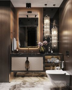 Exactly What Can You Do About Luxury Bathroom Master Baths Right Now - Bathroom Design Luxury, Modern Bathroom Decor, Bathroom Layout, Bathroom Ideas, Apartment Bathroom Design, Bath Design, Bathroom Designs, Bathroom Stand, Master Bathroom