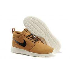Helt nye Nike Roshe Run Mid Guld Sort Hvid Herre Skobutik | Køligt Roshe Run Mid Skobutik | Nike Skobutik Til Salg | denmarksko.com