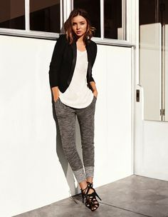 Easy (and comfortable) work outfit via Miranda Kerr for H&M