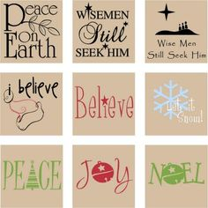 vinyl designs for glass blocks | Vinyl Design: Christmas - Square Designs