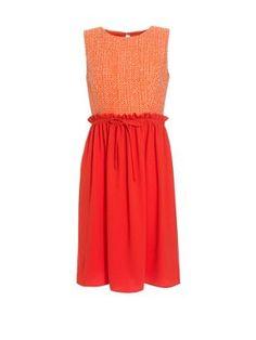 Boutique by Jaeger Lauren tweed dress Orange - House of Fraser