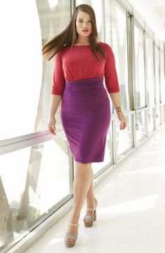 Colorblocking with coral & purple