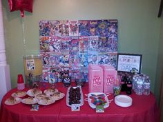 super hero dad, birthday party treat table (for hubby)