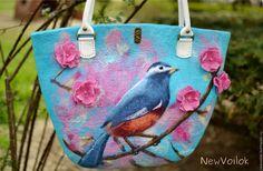 """Купить Валяная сумка """"Райский сад"""" - валяная сумка, войлочная сумка, сумка из войлока"""