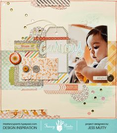 Passionately Curious for Fancy Pants by Jess Mutty Happy Go Lucky Collection  Get Fancy Pants at www.craftysteals.com #craftysteals #scrapbooking #layout
