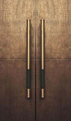 The best Door Pulls to enrich your modern designs. - The best Door Pulls to enrich your modern designs. Wardrobe Handles, Wardrobe Doors, Porte Design, Front Door Design, Furniture Handles, Bronze, Door Pulls, Door Pull Handles, Drawer Handles