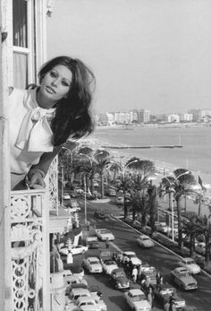 Sophia Loren in Cannes, France.