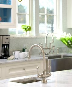 faucets // marble countertops
