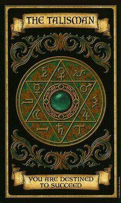 The Talisman - Madame Endora's Fortune Cards Fortune Cards, Fortune Telling Cards, Wiccan, Magick, Witchcraft, Magia Elemental, Arte Black, Magic Symbols, Angel Cards