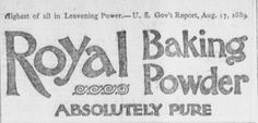 Genealogical Gems: Shopping Saturday: Royal Baking Powder