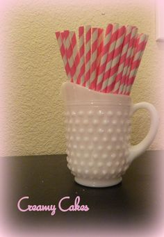 SALE-Sleeping Beauty Pink Paper Straws 25ct-Hot Pink Paper Straws-Stripe straws-sleeping beauty birthday-sleeping beauty party