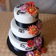 Simple Wedding Cake Designs | cake a small wedding cake with a simple classic design and the ...