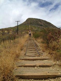 Koko Head Trail, Hawaii... 1048 steps!